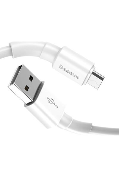 Baseus CAMSW-02 Mini White Micro USB 2.4A Şarj USB Kablosu 1 mt