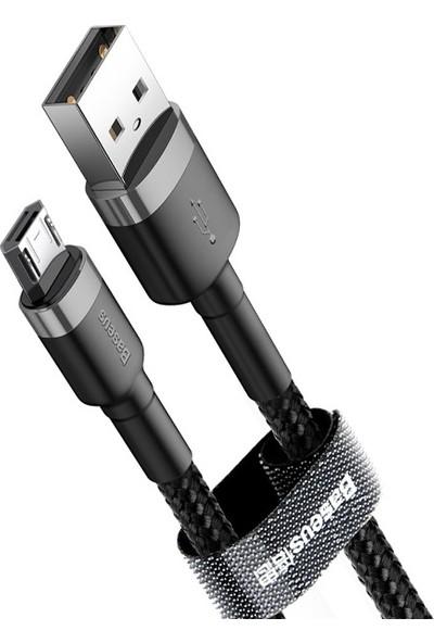 Baseus CAMKLF-BG1 Cafule Micro USB 2.4A Kablo 1 mt - Gri/Siyah