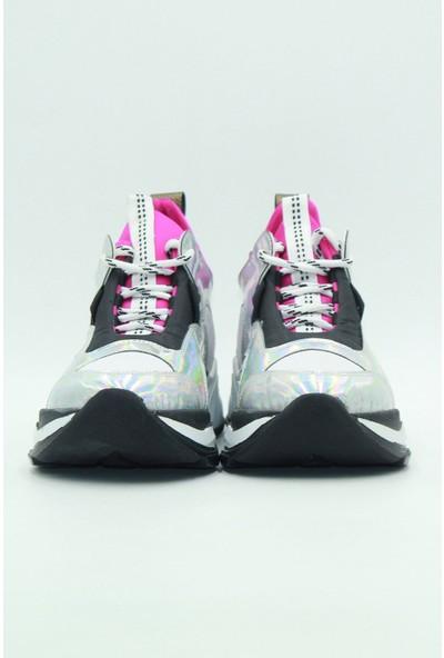 Park Moda Kadın Sneaker Gümüş
