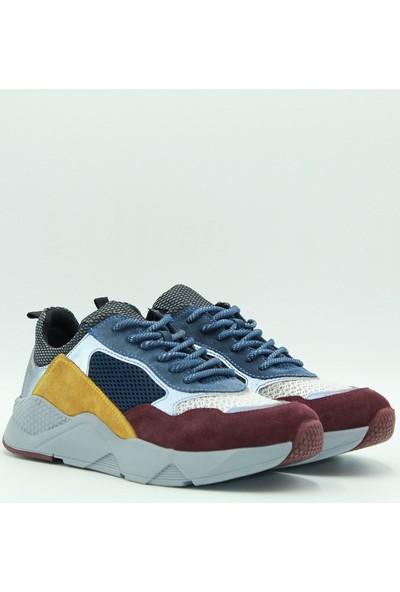 Togga Erkek Deri Günlük Ayakkabı 1958 Bordo-Mavi