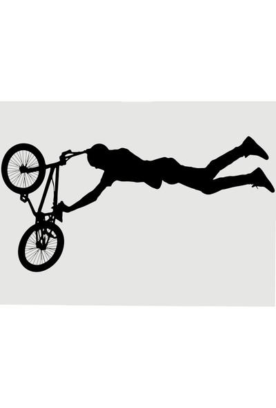 Oracal Akrobasi Bisikleti 100 x 50 Siyah Duvar Sticker