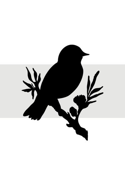 Oracal Daldaki Kuş 35 x 41 Siyah Duvar Sticker