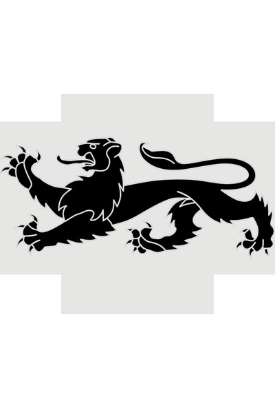 Oracal Garip Aslan 100 x 44 Siyah Duvar Sticker