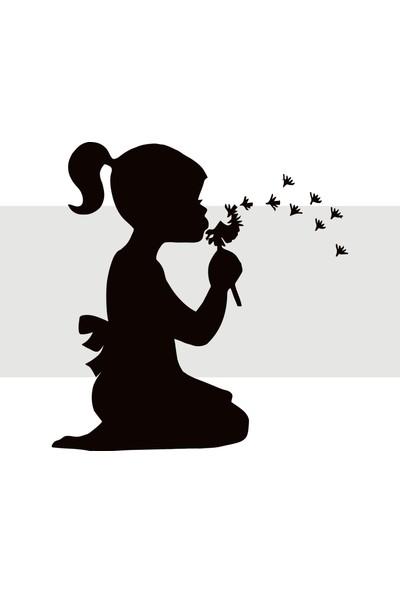 Oracal Kız Çocuğu 100 x 104 Siyah Duvar Sticker
