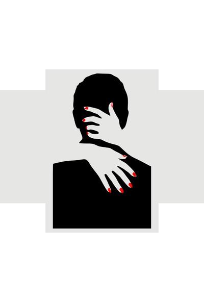 Oracal Öpüşen Adam 100 x 62 Siyah Duvar Sticker