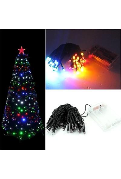 Süsle Bebek Parti 50 Ledli ve 5 m Animasyonlu Pilli LED Lamba Çok Renkli Işık