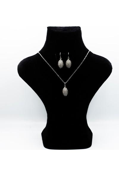 Zirve Bijuteri Gümüş Rengi Zirkon Taşlı Ikili Lüks Set