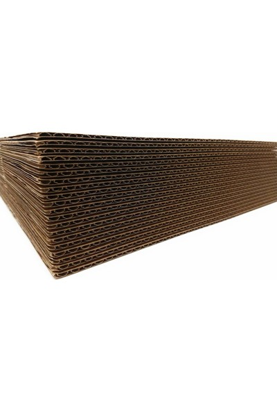 Kraft 100x120cm 3mm Oluklu Mukavva Karton 6'lı Paket Ödev Kartonu - Proje Kartonu
