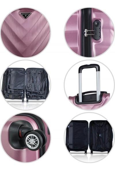 My Valice Lotus Abs 2'li Valiz Seti (Kabin ve Büyük) Siyah