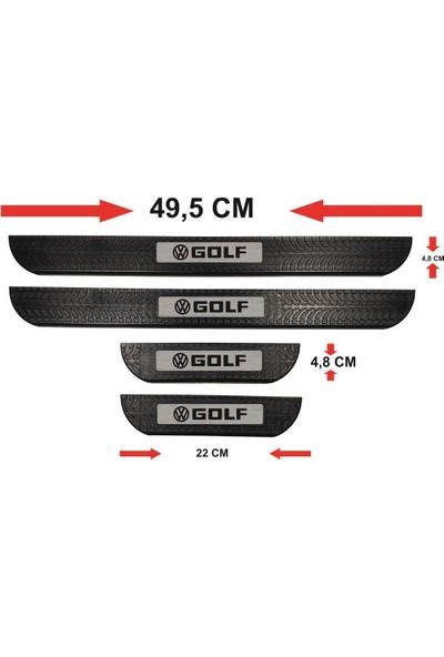 Ömr Dizayn Hediye Volkswagen Golf Abs Soft Kapı Eşiği Çıtası 4'lü Set