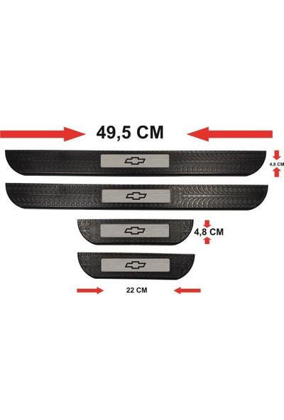 Ömr Dizayn Hediye Chevrolet Logo Abs Soft Kapı Eşiği Çıtası 4'lü Set