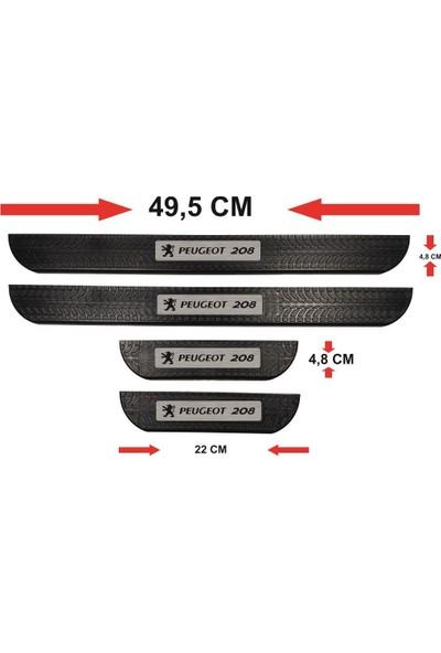 Ömr Dizayn Hediye Peugeot 208 Abs Soft Kapı Eşiği Çıtası 4'lü Set
