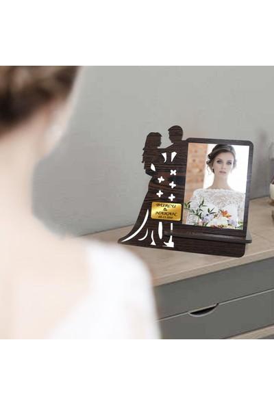 Ahşap Şehri Kelebek Kişiye Özel Ahşap Dekoratif Masa Makyaj Aynası