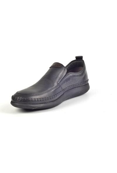 Paul Branco M-93156 Deri Siyah Günlük Erkek Ayakkabı