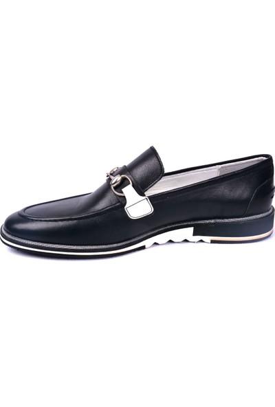 Paul Branco M-83774 Deri Siyah Loafer Erkek Ayakkabı