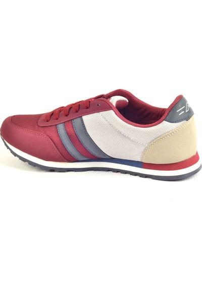 Owndays M-61165 Bordo Fileli Günlük Erkek Spor Ayakkabı