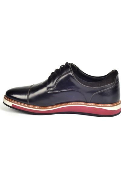 Paul Branco M-65534 Deri Siyah Günlük Erkek Ayakkabı