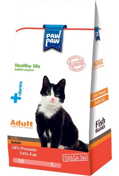 Pawpaw Balıklı Yetişkin Kedi Maması 7 kg