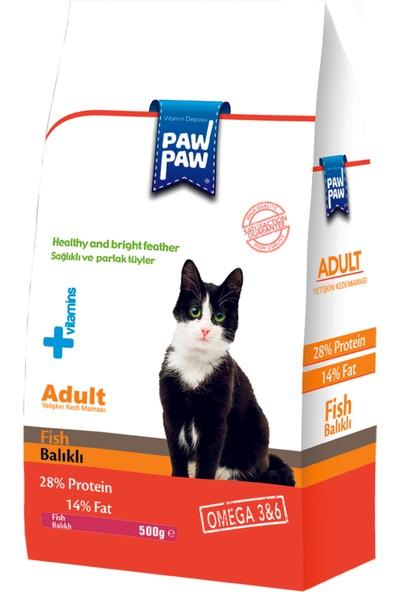 Pawpaw Balıklı Yetişkin Kedi Maması 500 g