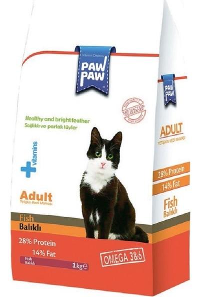 Pawpaw Balıklı Yetişkin Kedi Maması 1 kg