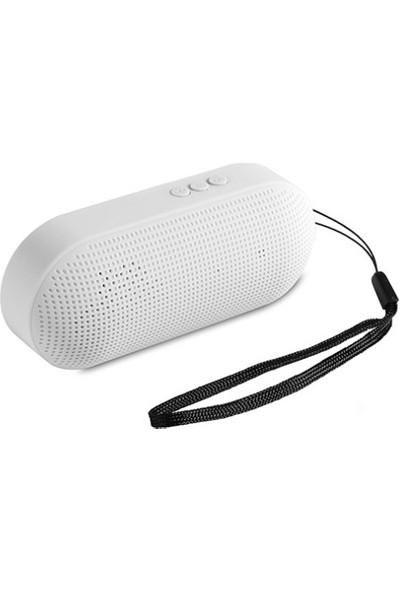 Hytech HY-S10 DC 5V Beyaz USB + TF Kart + Bluetooth Speaker