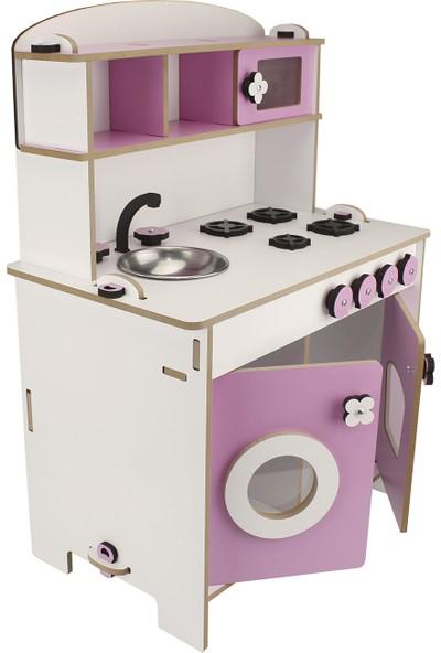 Okutan Hobi Montessori Küçük Çocuk Oyun Mutfağı - Pembe