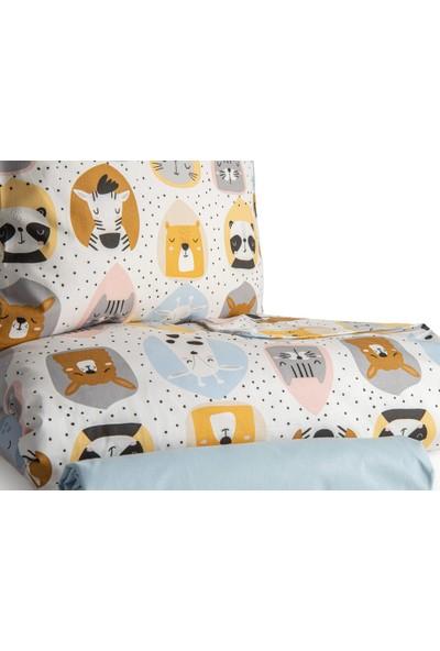 Englısh Home Sleepy Friends Pamuklu Bebe Nevresim Takımı 100 x 150 cm Beyaz