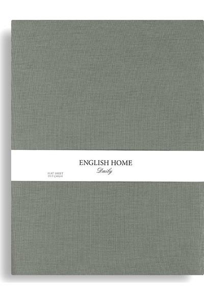 Englısh Home Düz Pamuklu Çift Kişilik Çarşaf 240 x 260 cm Urban Adaçayı