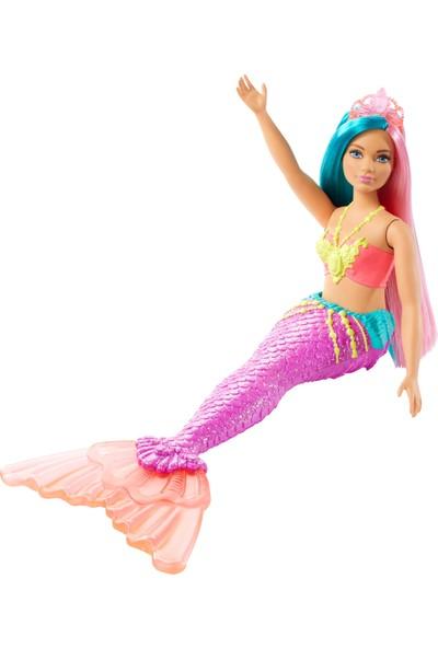 Barbie Dreamtopia Denizkızı Bebekler - Açık Tenli, Mavi, Pembe Saçlı GJK11