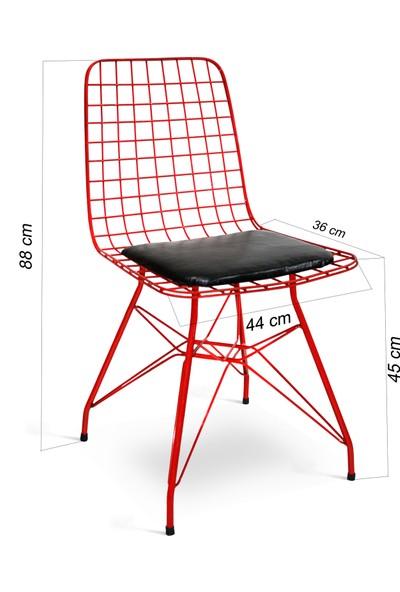 Hepsi Home Tel Sandalye Kırmızı