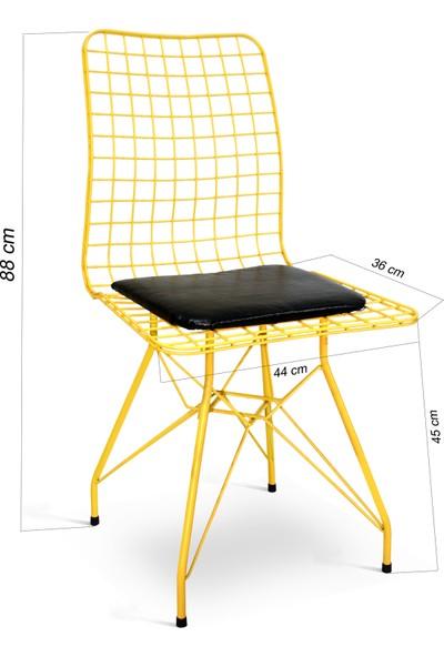 Hepsi Home Tel Sandalye Sarı