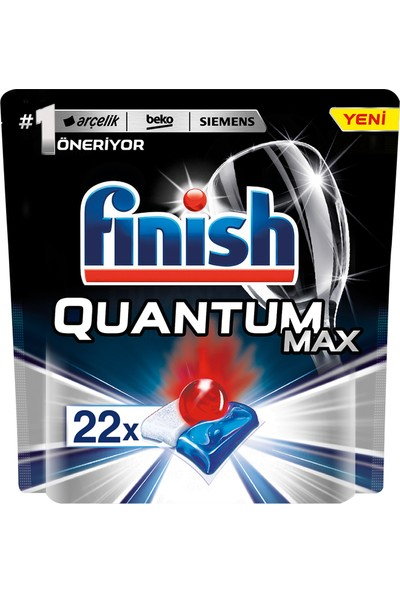 Finish Quantum Max Bulaşık Makinesi Deterjanı 22 Kapsül