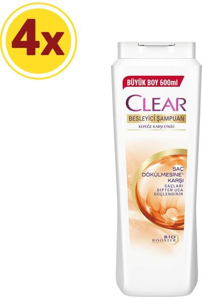 Clear Saç Dökülmesine Karşı Etkili Şampuan 600 ml x4