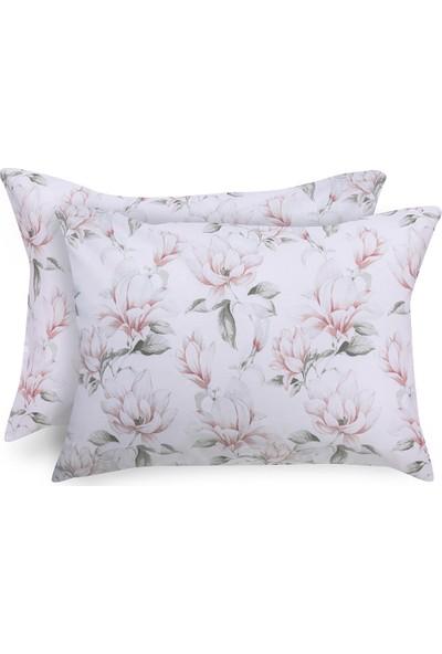 English Home Magnolia Pamuklu 2'li Yastık Kılıfı 50x70 Cm Pembe
