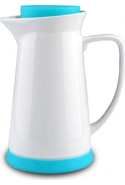 Kütahya Porselen 17 Parça Çay Seti Mavi