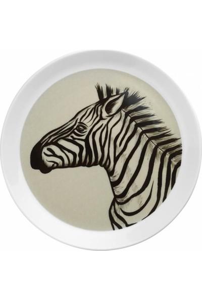 Kütahya Porselen Doğadakiler 27 cm Servis Tabağı Zebra