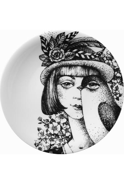 Kütahya Porselen Kadınlarım Serisi 25 cm Servis Tabağı 885180