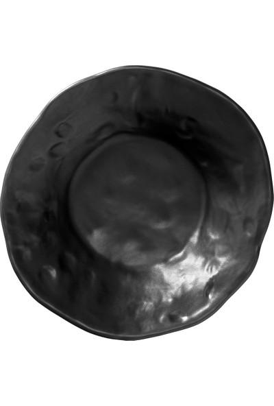 Kütahya Porselen Mezolik 16 cm Kase Siyah