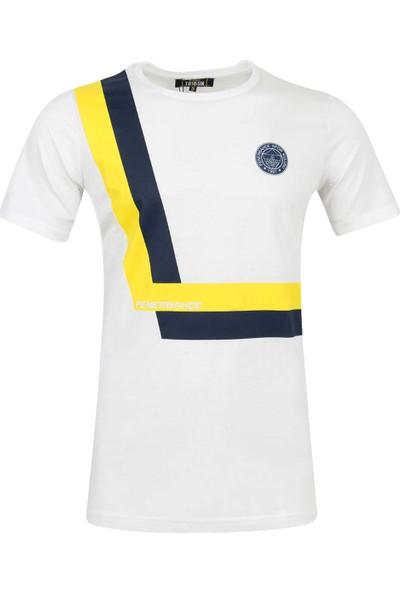 Fenerium Erkek Tribün Şerit T-Shirt