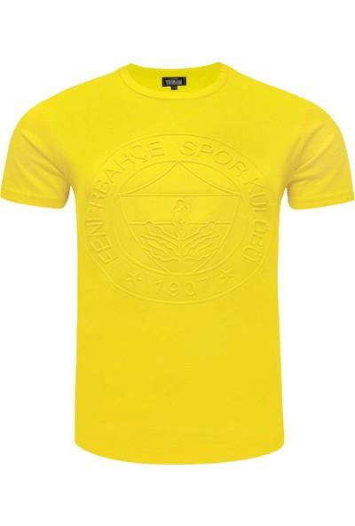 Fenerium Çocuk Tribün Tek Renk Emboss T-Shirt