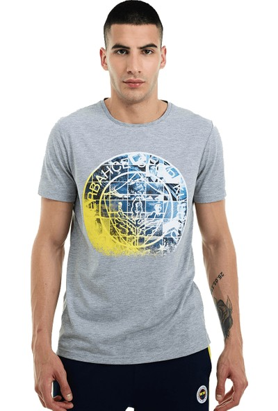 Fenerium Erkek Tribün Kafes Logo T-Shirt