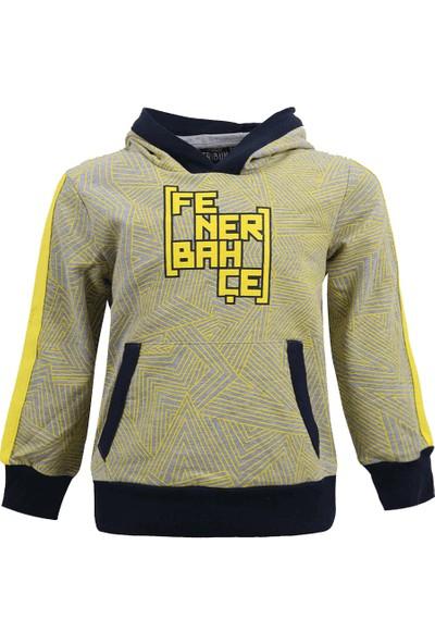 Fenerium Çocuk Tribün Desen Baskıli Sweatshirt