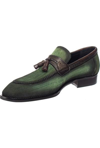 Cg 0245 Erkek Klasik Ayakkabı Yeşil Süet