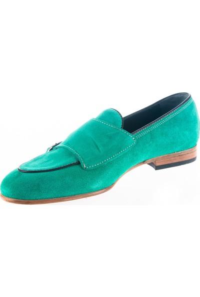 Cg 154 Erkek Klasik Ayakkabı Turkuaz-Yeşil