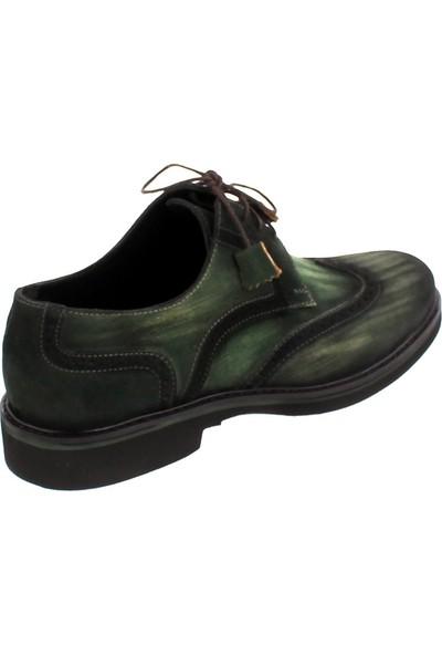 Cg 316 Erkek Klasik Ayakkabı Yeşil Süet
