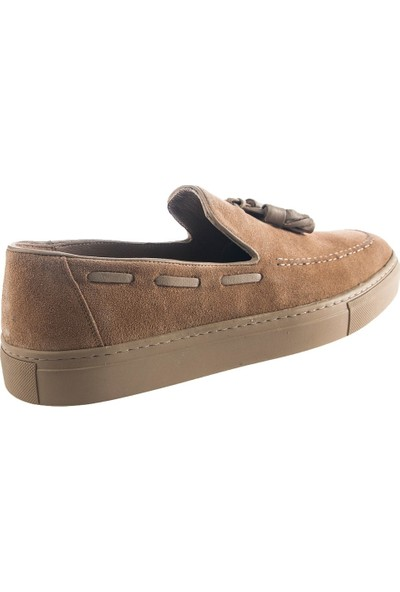 Cg 4138 Erkek Günlük Ayakkabı Bej Süet