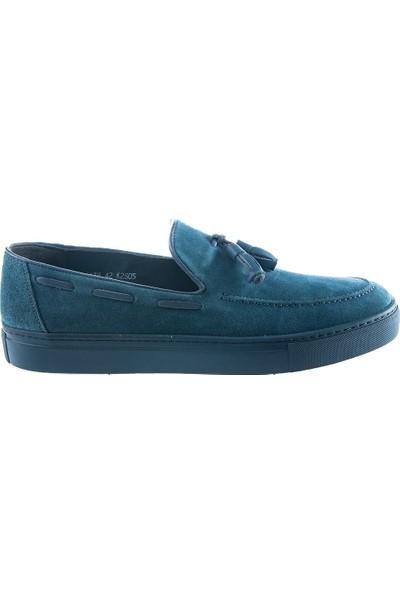 Cg 4138 Erkek Günlük Ayakkabı Mavi Süet