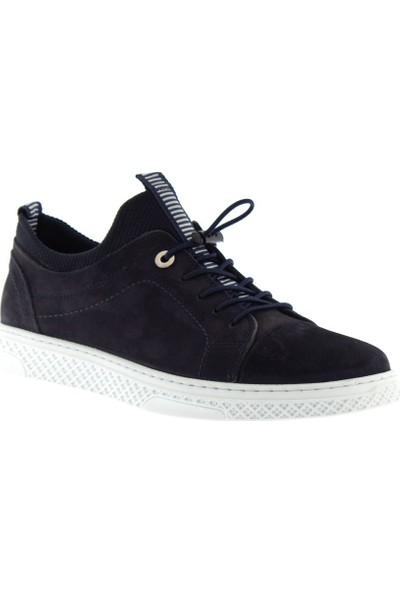 Cg 9166 Erkek Günlük Ayakkabı Lacivert Nubuk