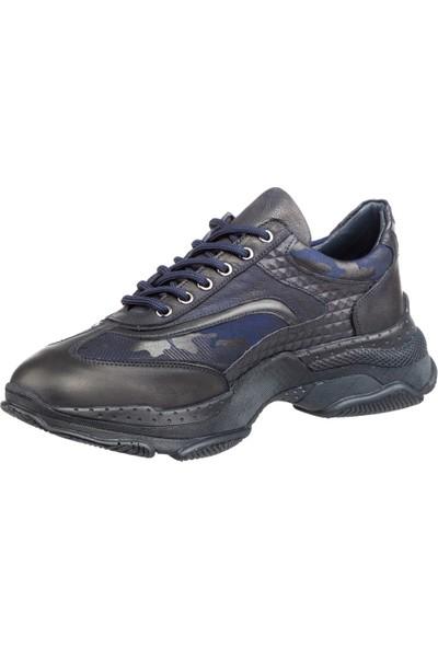 Cg 10787 Erkek Günlük Spor Ayakkabı Lacivert Nubuk