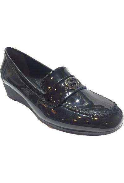Pandora Moda 660 Kadın Ayakkabı Siyah Rugan
